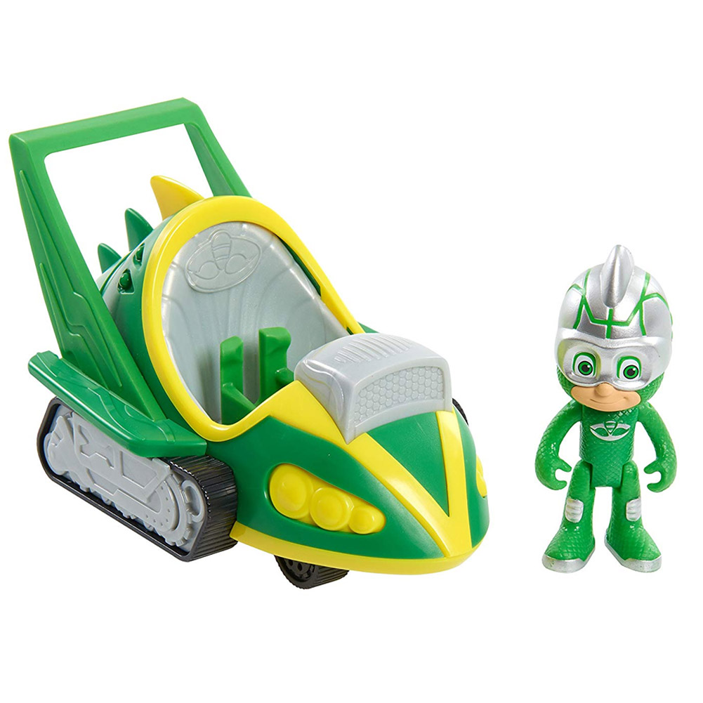Super pigiamini pj mask auto speed buster gekko mobile con personaggio snodato.