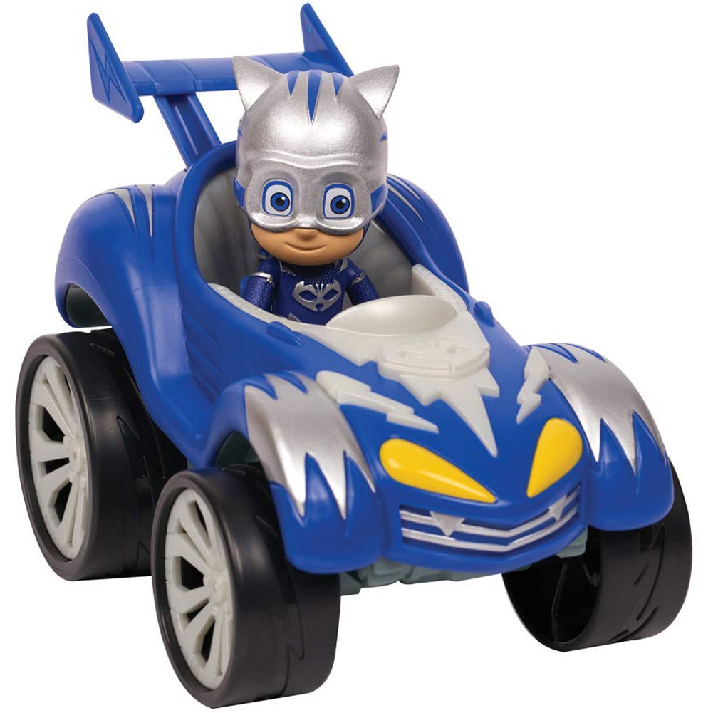 Super Pigiamini PJ Mask Auto Power Racer Gattoboy Mobile con Personaggio Snodato.