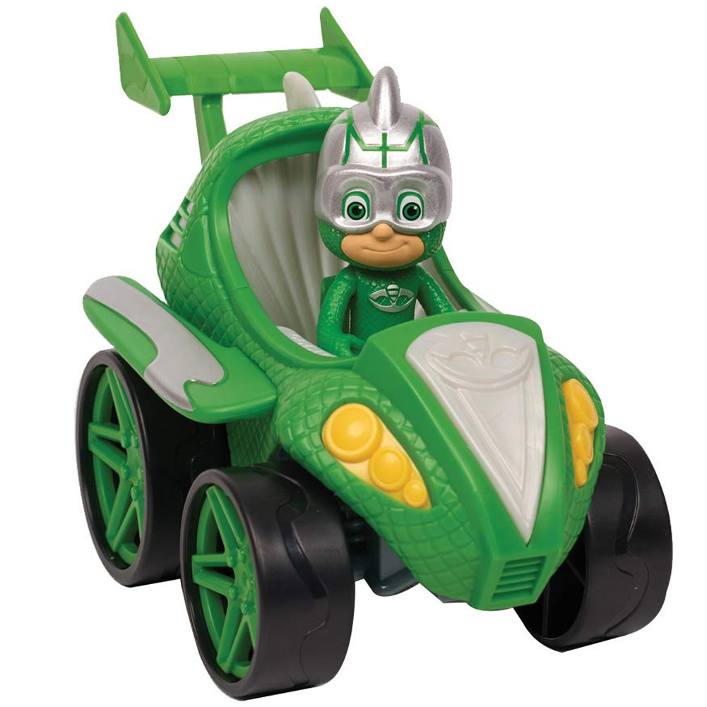 Super Pigiamini PJ Mask Auto Power Racer Gekko Mobile con Personaggio Snodato.