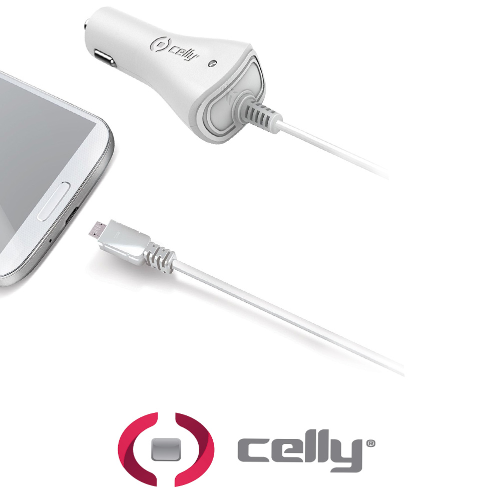 CELLY CARICABATTERIE AUTO MICRO USB CAR CHARGER 1A MICROUSB .