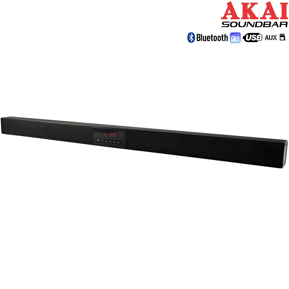 SOUNDBAR SURROUND STEREO HOME CINEMA BLUETOOTH WIRELESS USB LCD + TELECOMANDO.