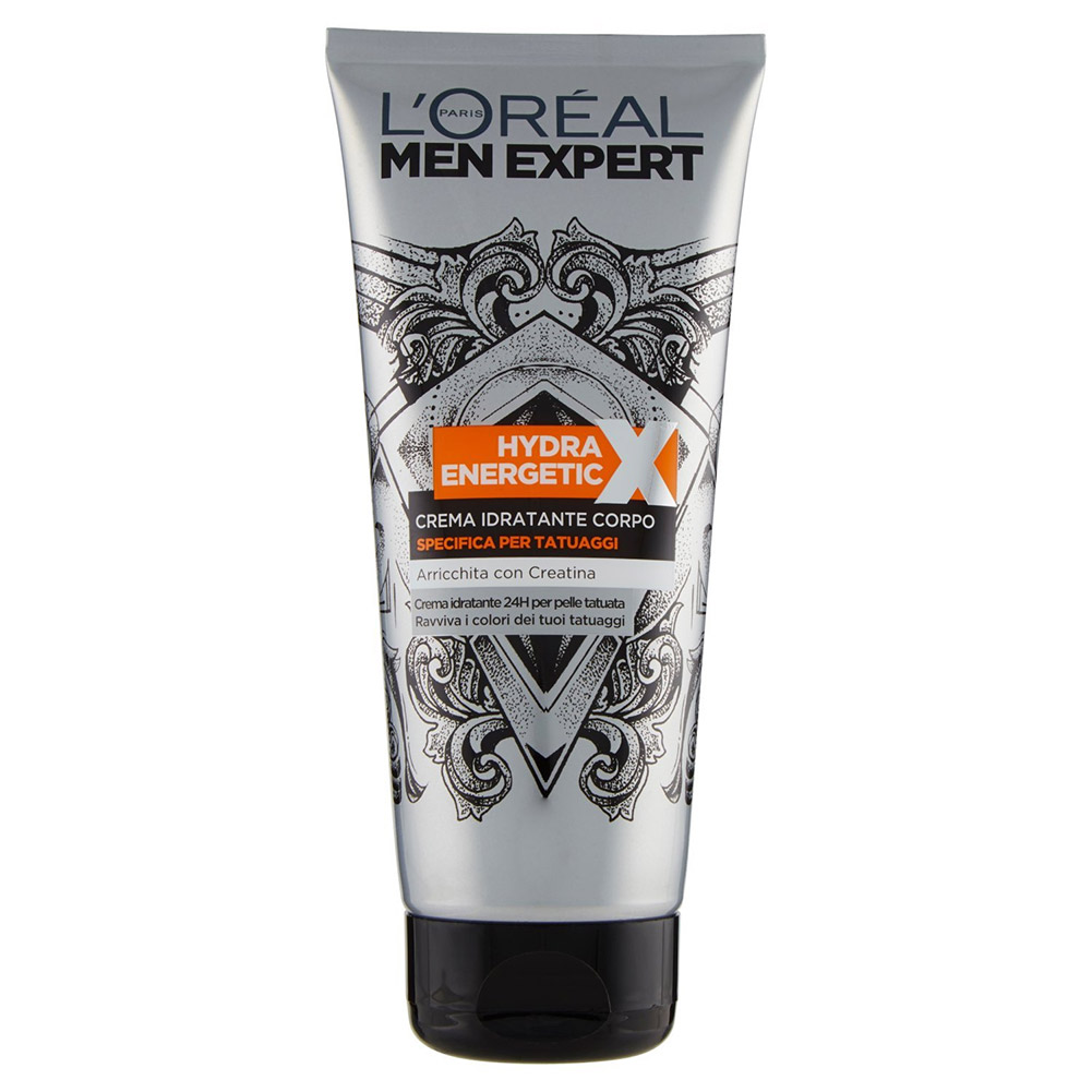 L'oreal Paris Crema Corpo Uomo Idratante Specifica Per Tatuaggi 200ml Men Expert.