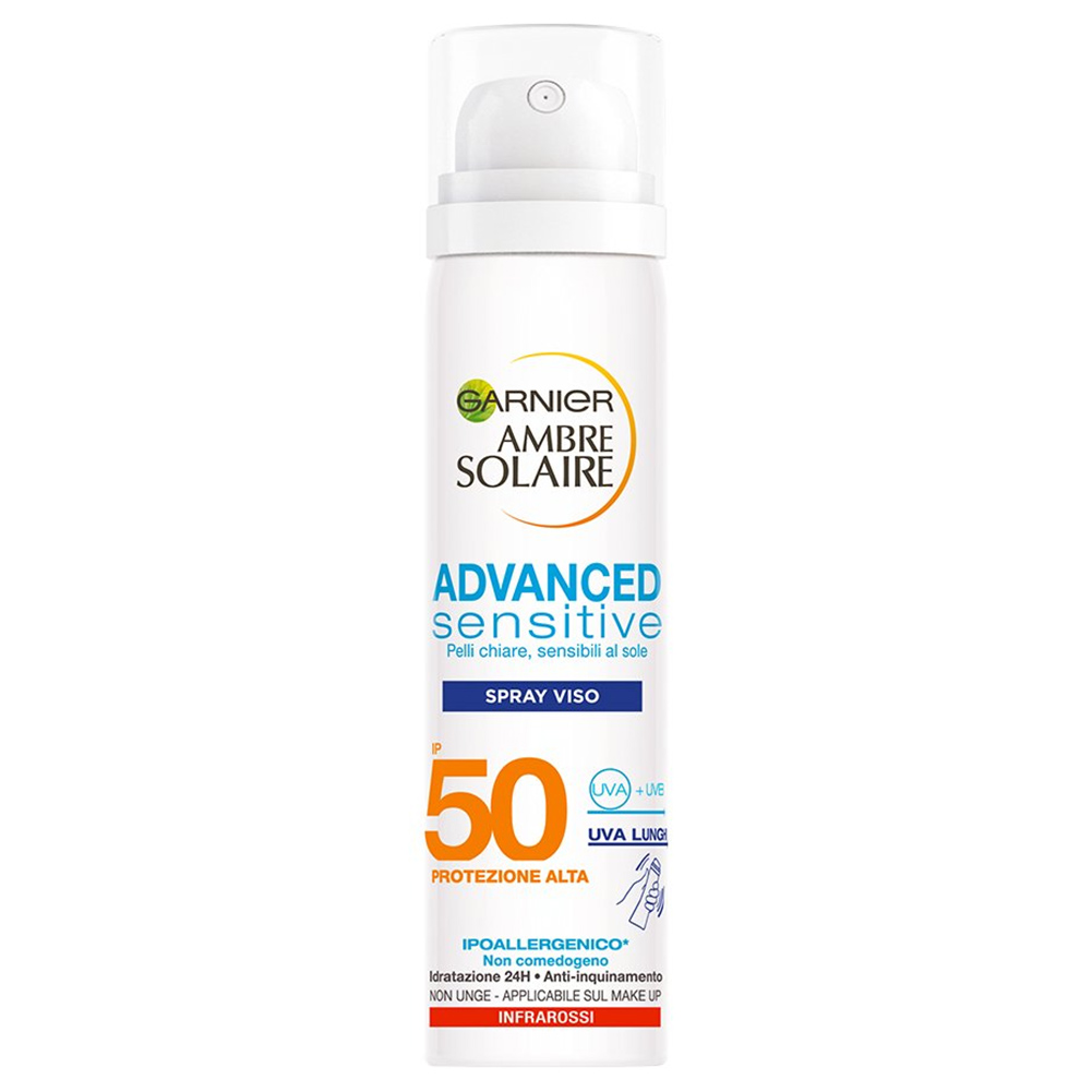 Protezione Solare Spray Alta IP 50 Per Viso Advanced Sensitive 75 ml Garnier.
