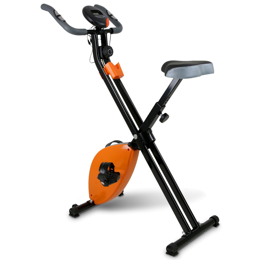Cyclette Pieghevole Magnetica Con Display LCD Fitness Palestra Bicicletta Sport.