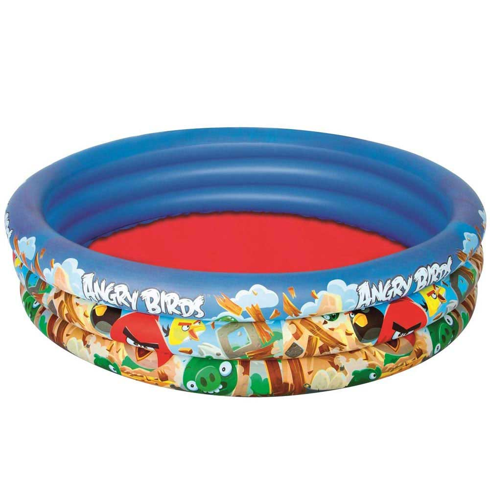Piscina 3 anelli angry birds 152x30cm mare piscina gonfiabile 282 litri bestway .
