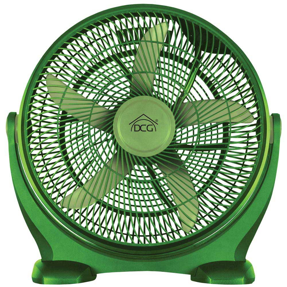 Ventilatore Da Terra Box Fan 90W 50cm Timer 3 Velocita Inclinazione 5 Pale DCG.