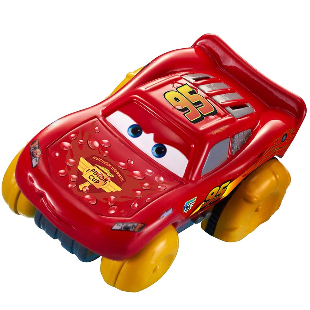 Macchinina disney cars hydro wheels personaggio saetta mc queen cammina su acqua.