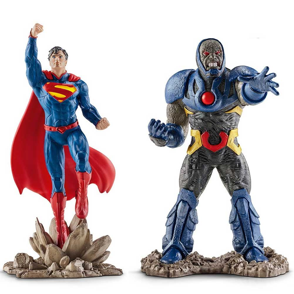 JUSTICE LEAGUE PERSONAGGI ACTION FIGURES SUPERMAN VS DARKSEID DC COMICS SCHTEIC.
