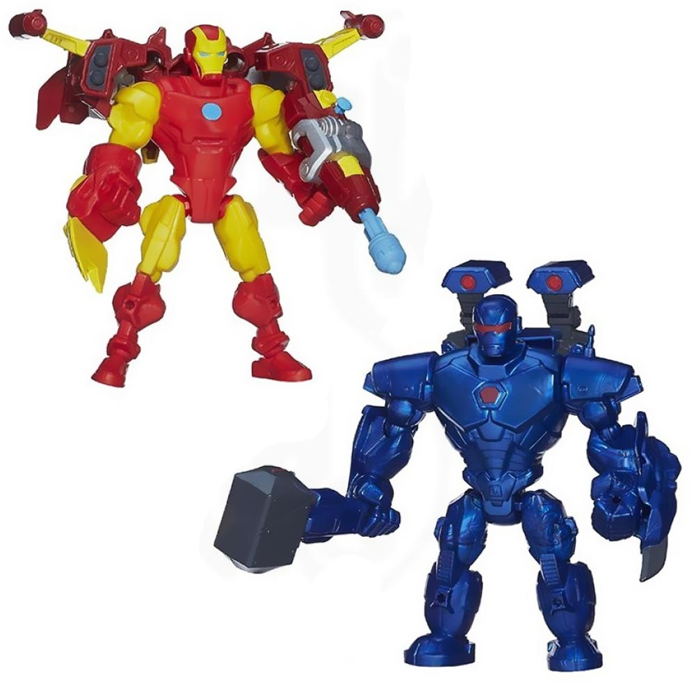 MARVEL HERO MASHERS ACTION FIGURES IRON MAN IRON MONGER CON ARMI E ACCESSORI.