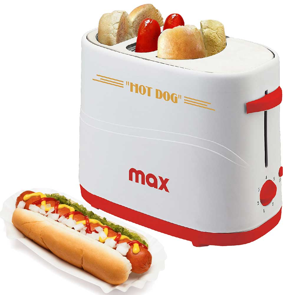 Macchina Per Hot Dog Alloggio Wurstel e Pane 650W Hotdog Maker Party Feste Max.