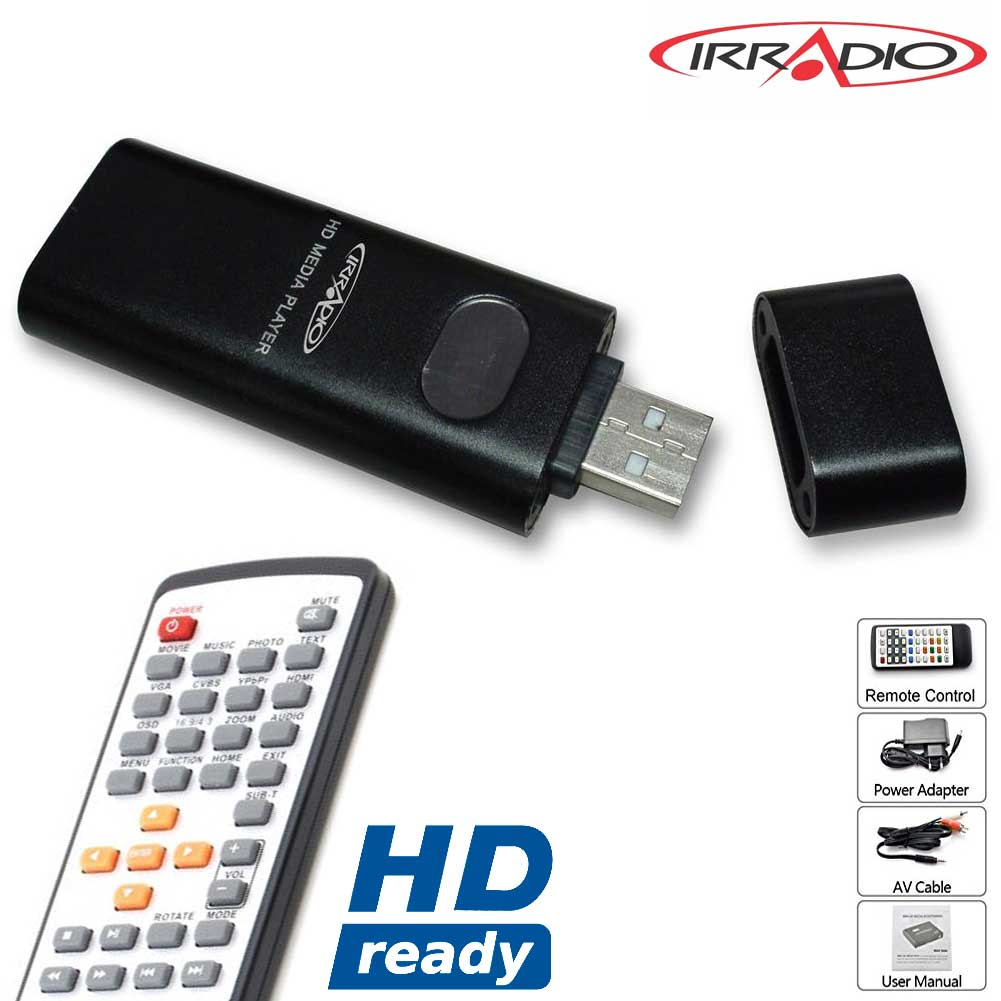 Riproduttore Multimediale Portatile TV PC HD-READY con 4GB Memoria Integrata.