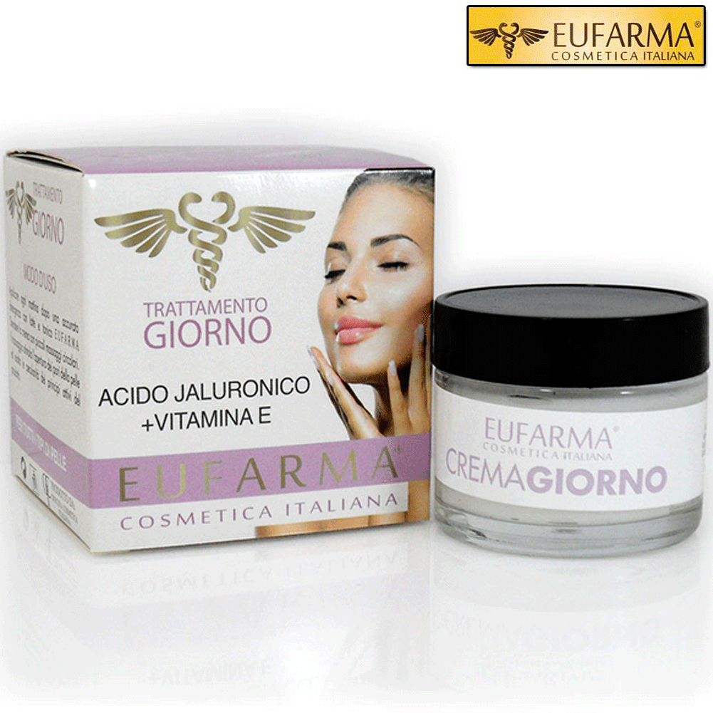 EUFARMA CREMA VISO GIORNO ACIDO IALURONICO + VITAMINA E 50 ML MADE IN ITALY.