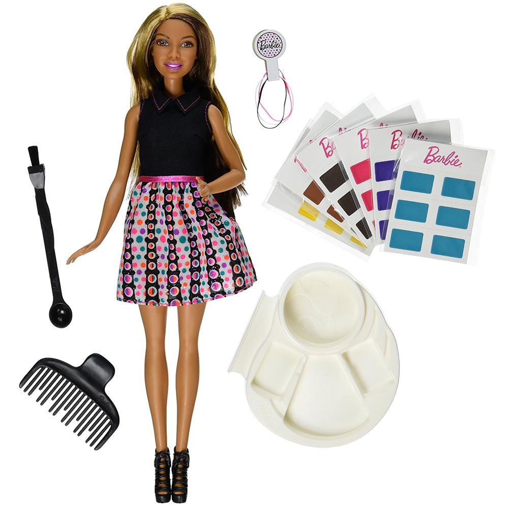 BARBIE MIX AND COLOR CON 36 COLORI AD ACQUA + ACCESSORI BAMBINE GIOCHI MATTEL.