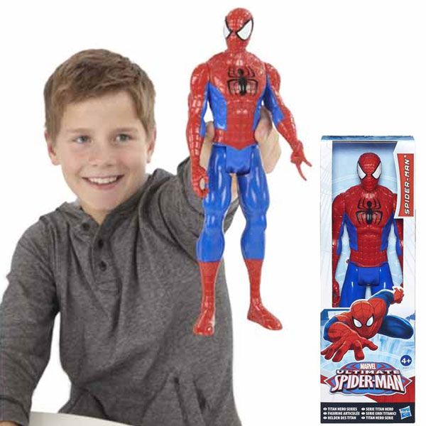 Spider-man uomo ragno hasbro hero figure ultimate spiderman altezza 30 cm.