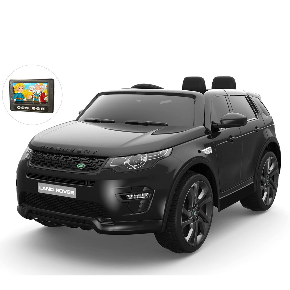 Auto bambini land rover discovery nero mp4 12v con telecomando display 4.