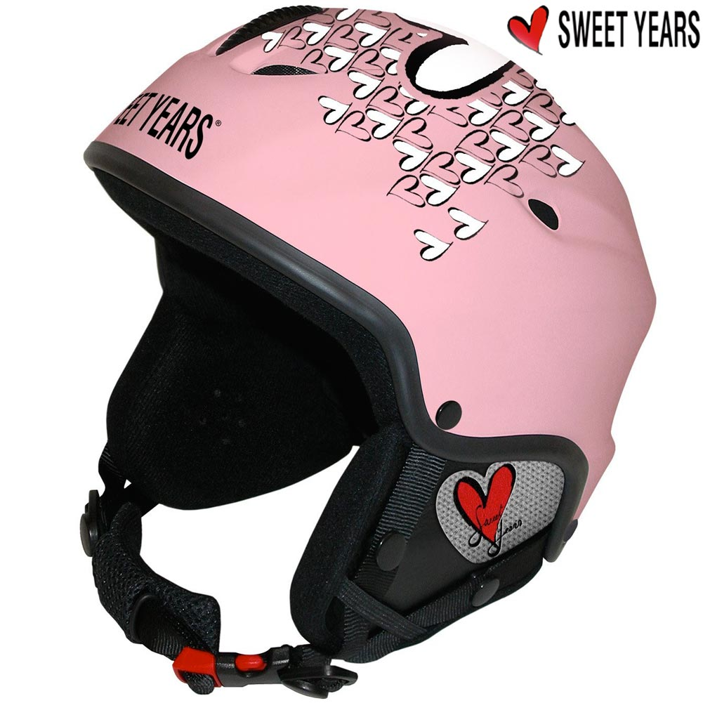 CASCO DA SCI SNOWBOARD BICI CON CUFFIE INTEGRATE + MP3 TAGLIA M SWEET YEARS NERO.