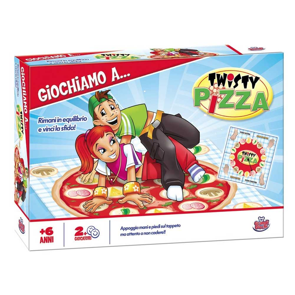 Gioco di societa party game twisty pizza grandi giochi con tabella e tappeto.