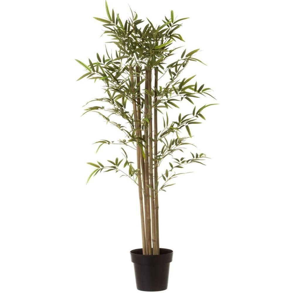 pianta artificiale bambu finto in plastica con vaso in pvc altezza 120cm.