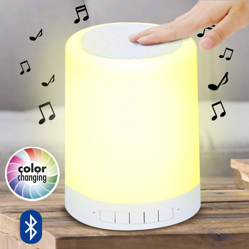 Lampada Cassa Speaker Altoparlante da Tavolo Bluetooth Luce Touch LED RGB USB.