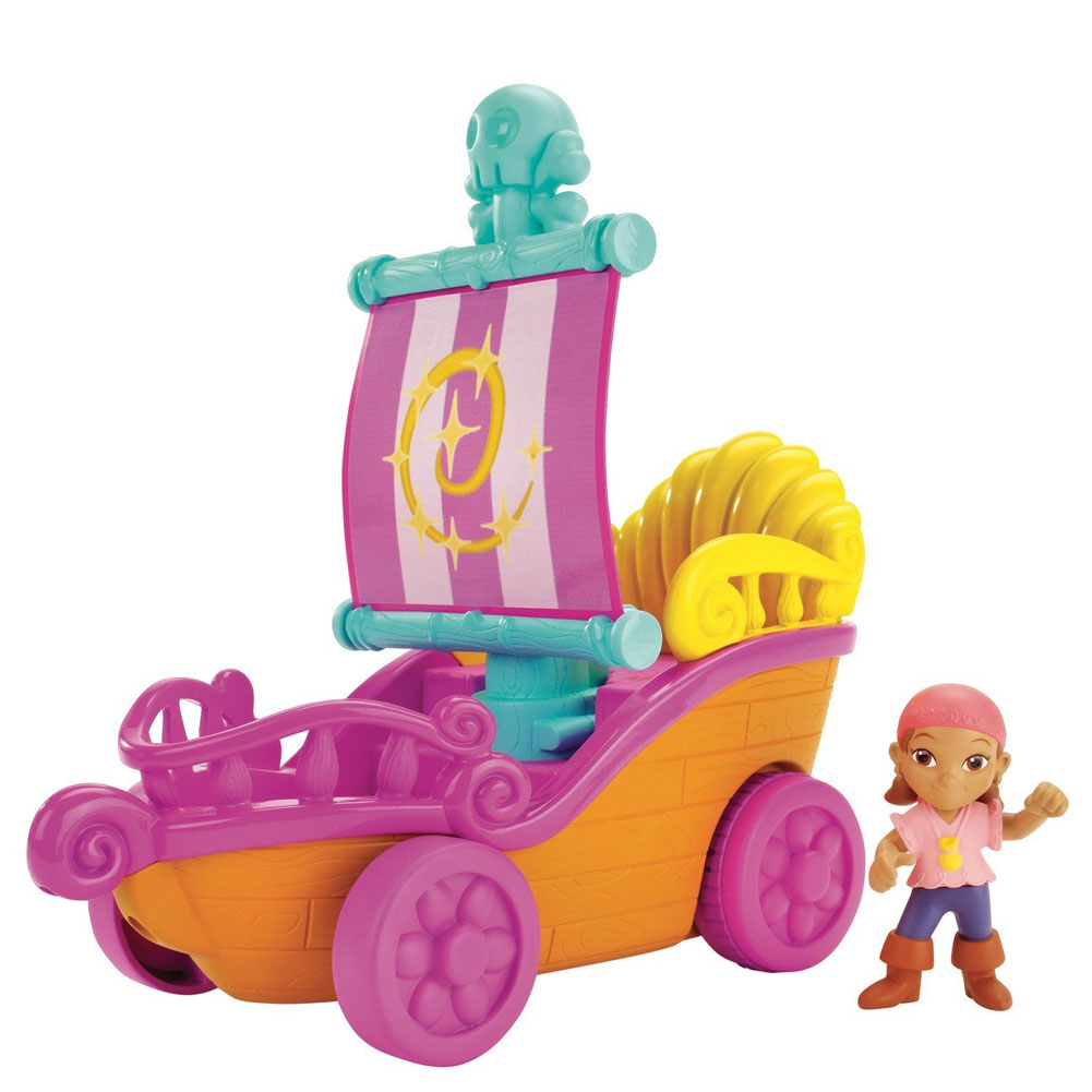 Nave da corsa jake e i pirati movimento molla con personaggio izzy fisher price.