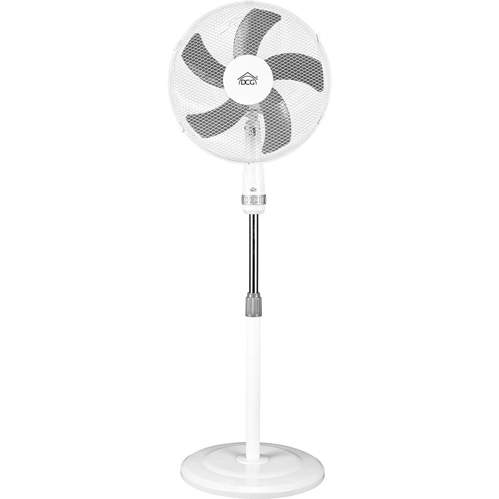 Ventilatore colonna piantana 50w 5 pale 3 velocita  regolabile base rotonda.