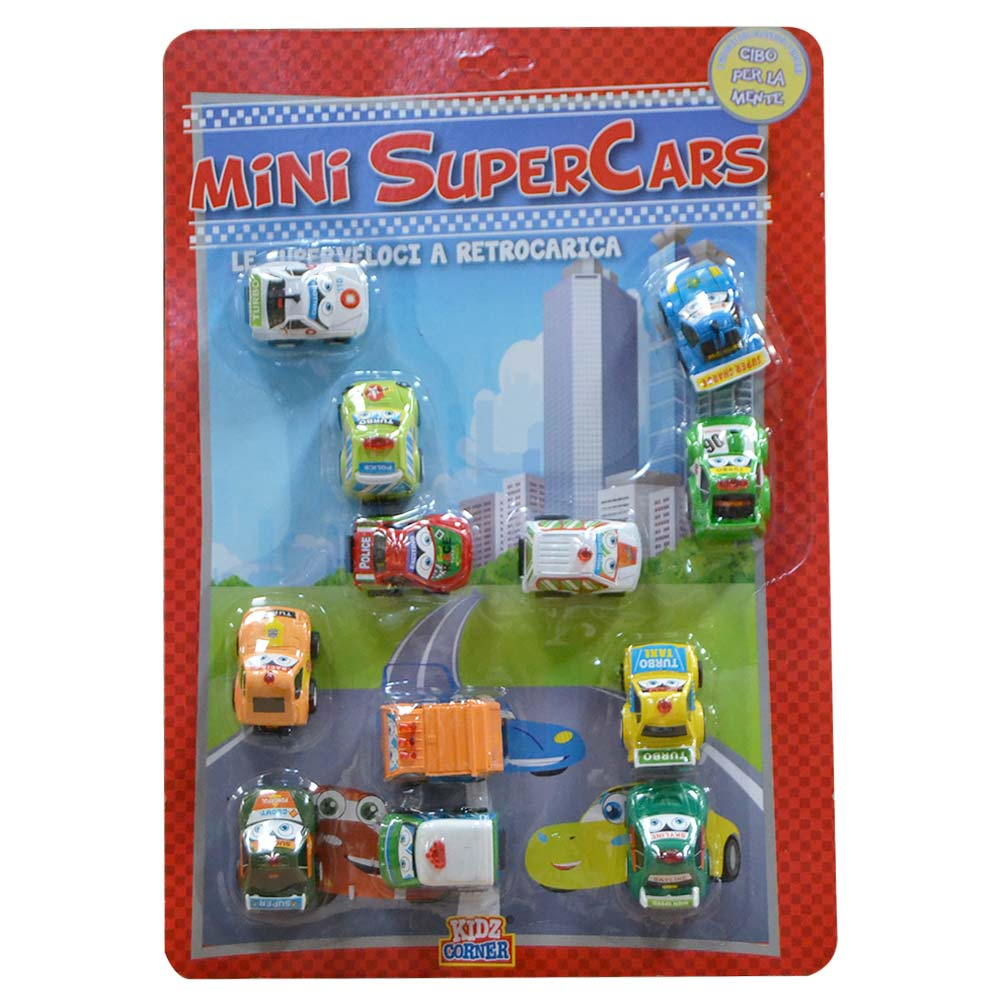 MACCHININE MINI CARS SUPERVELOCI MOVIMENTO A FRIZIONE CONFEZIONE 12PZ ASSORTITI.