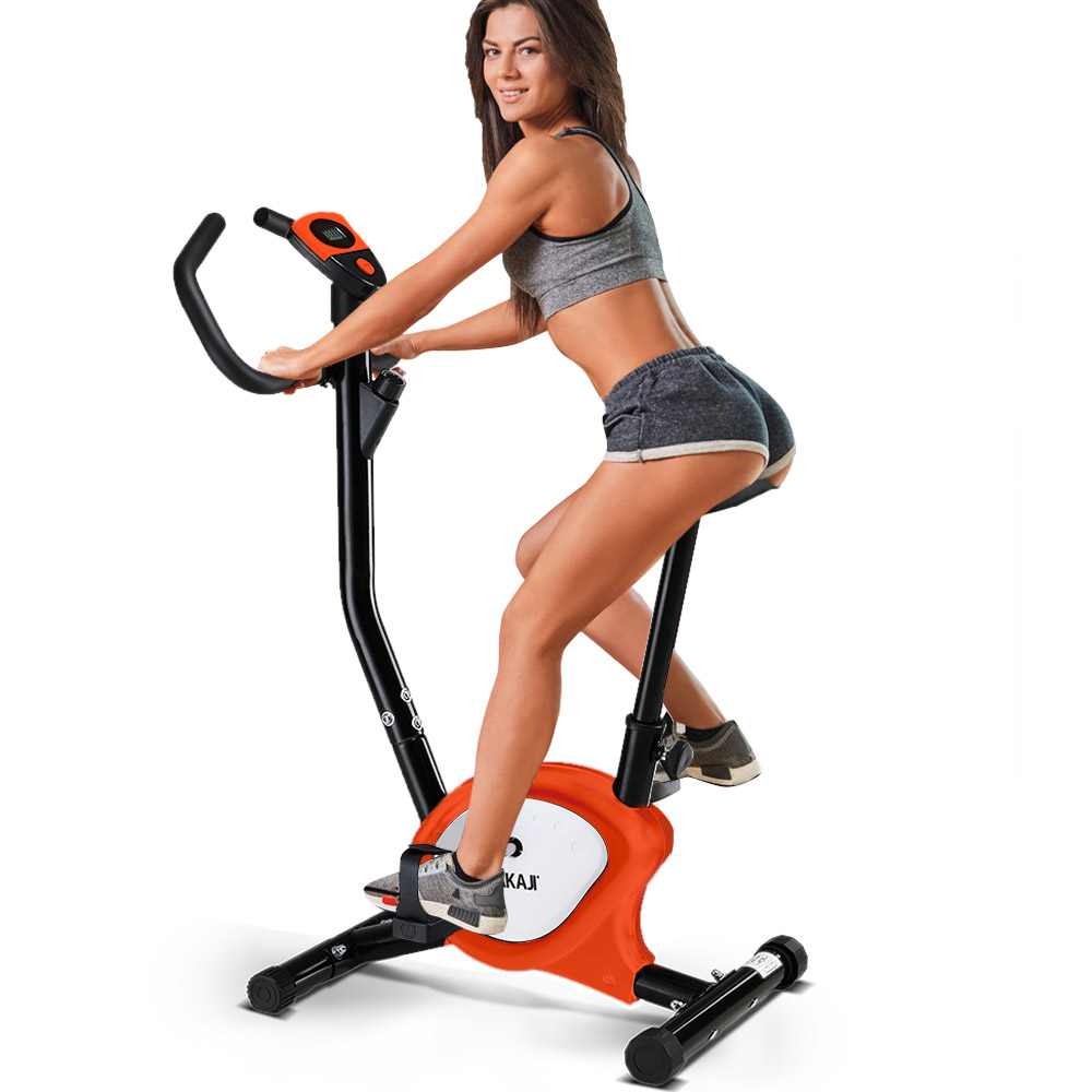 Cyclette Fitness Bici Allenamento Cardio Bicicletta Bike Spinning Computer Aranc