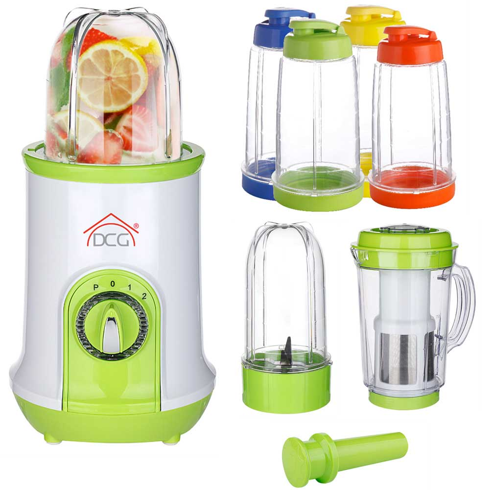 MIni Frullatore Magic Chef Centrifuga MIxer Robot Cucina Frulla Tritatutto 21pz.
