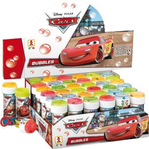 36 x bolle di sapone disney cars da 60 ml bubble game espositore completo.