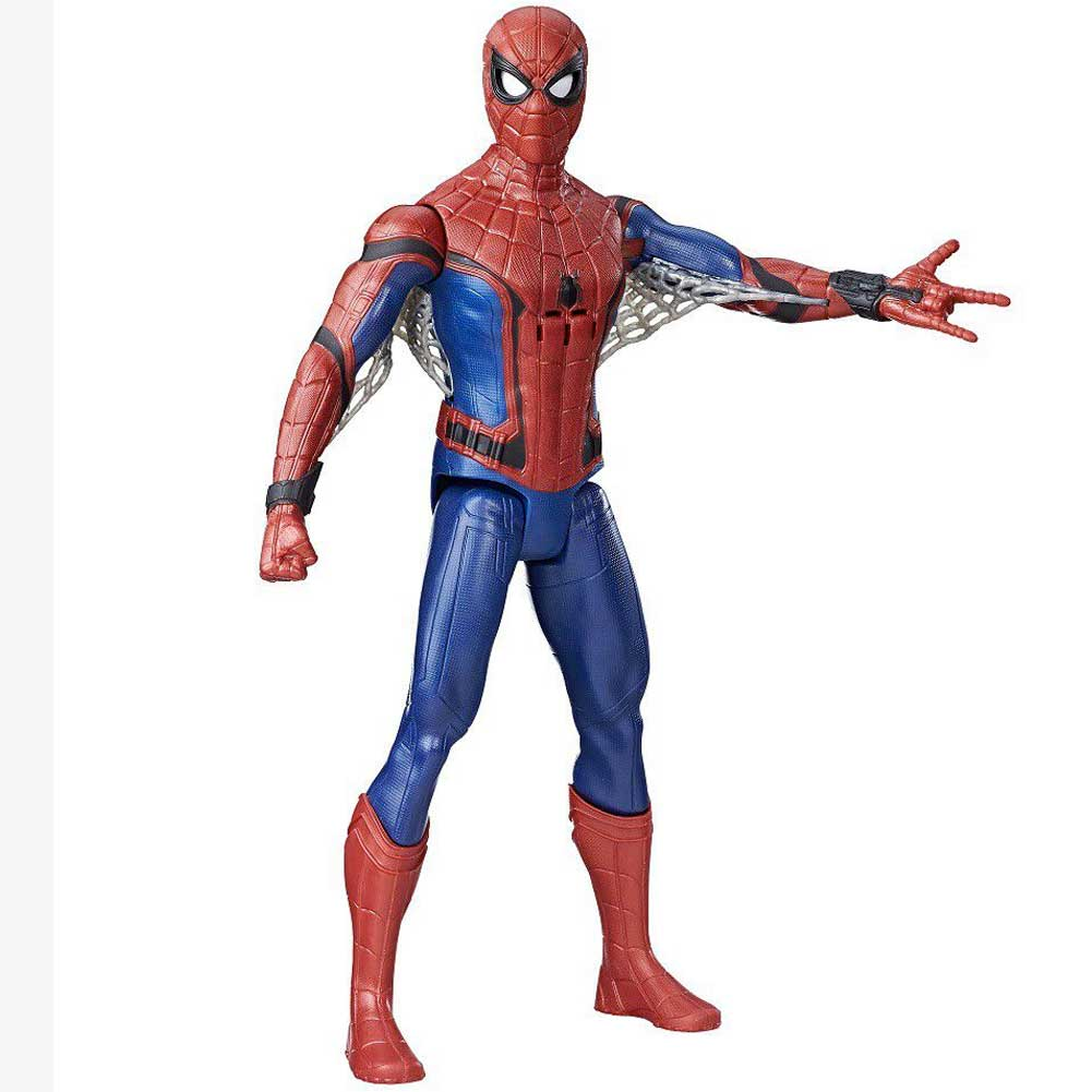 Action Figure Spiderman Homecoming 30cm Snodato Con Suoni Movimento Occhi Marvel.