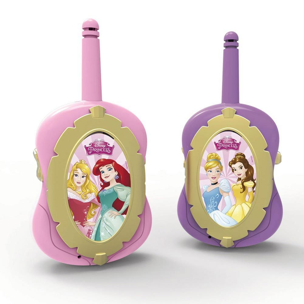 PRINCIPESSE DISNEY WALKIE TALKIE  CON SPIA LED INTERRUTTORE ON OFF E ANTENNA.