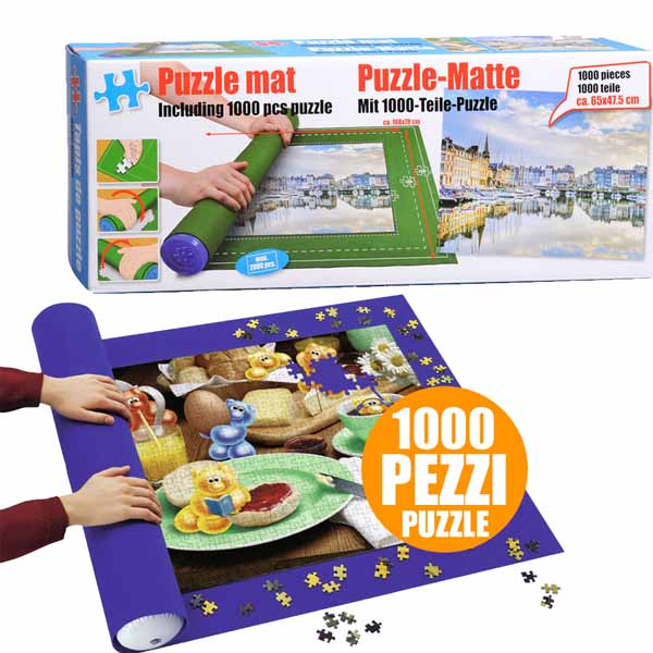 Tappetino Con Puzzle Mat 1000 Pezzi Tappeto Gioco Roller In Scatola Roll Your
