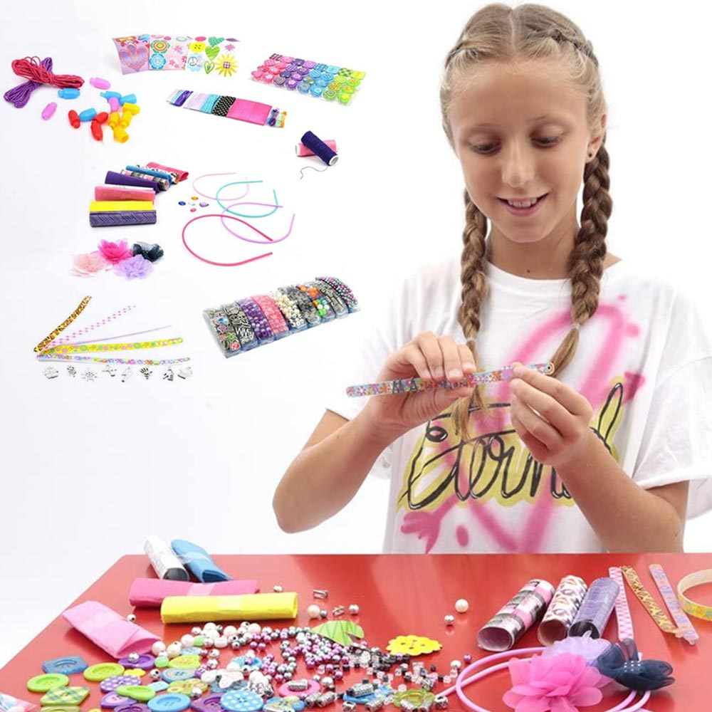 Playset stylish jewellery mega kit xrea i tuoi gioielli con perline e lettere.