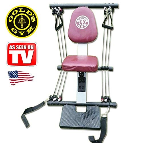 Panca Palestra a Molle Gold's Gym Serious Fitness Home Trainer Pulley System.