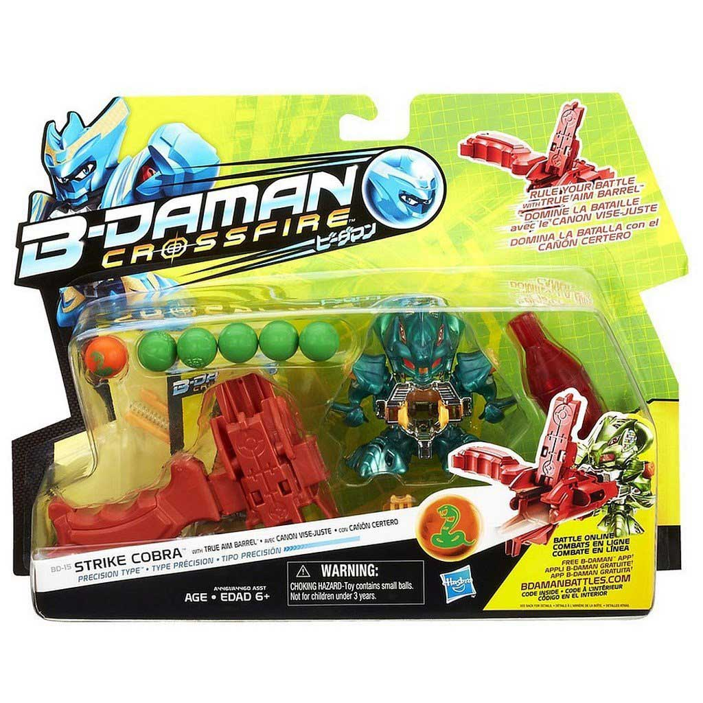 Personaggio B-Daman Action Figure Strike Cobra Battaglia Online Hasbro .