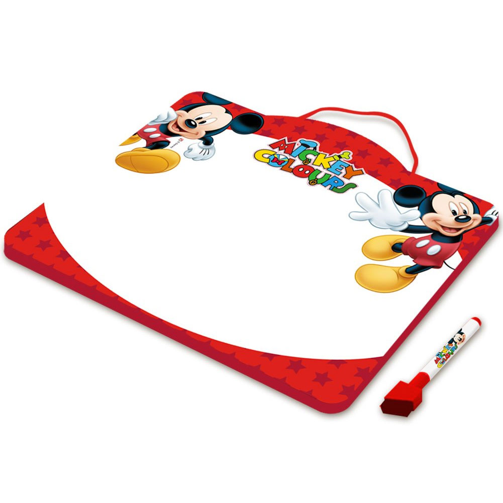 Lavagna In Metallo Da Appendere Lavagnetta Disney Michey Mouse 29 x 25 cm.