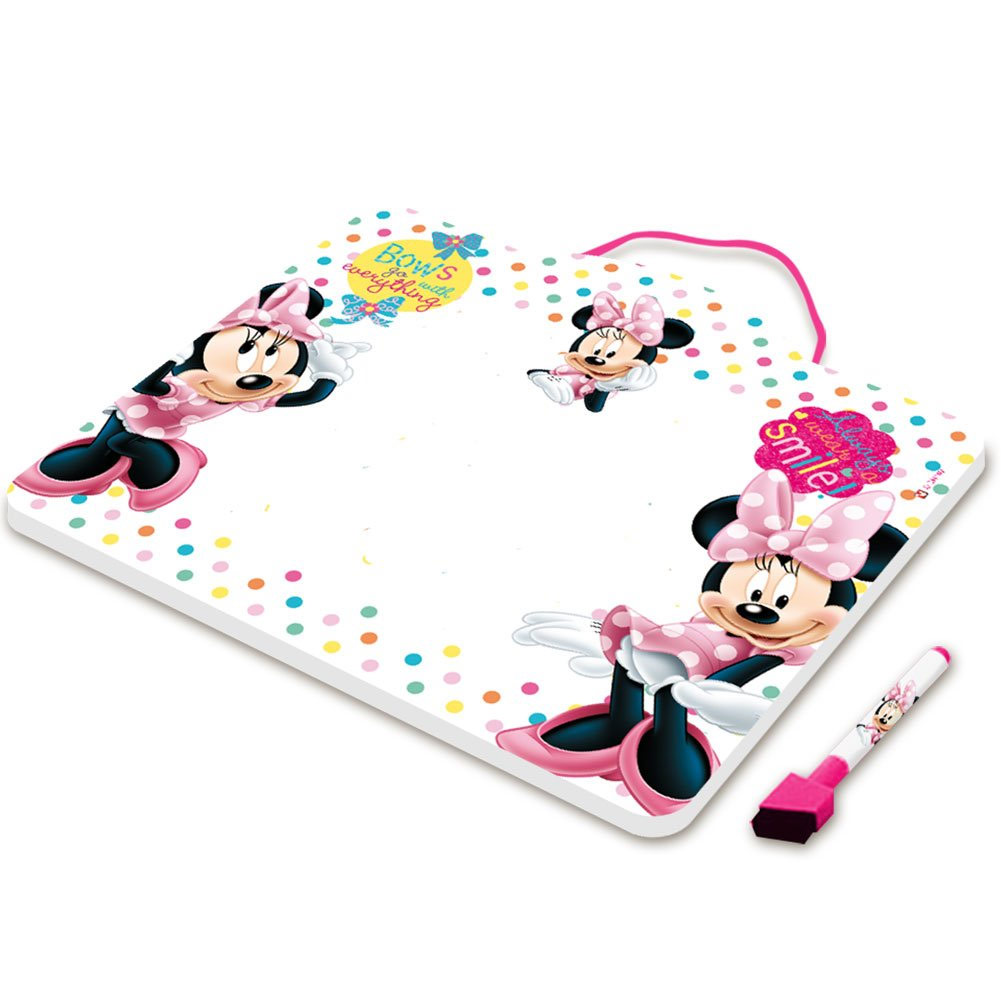 Lavagna In Metallo Da Appendere Lavagnetta Disney Minnie Mouse 29 x 25 cm.