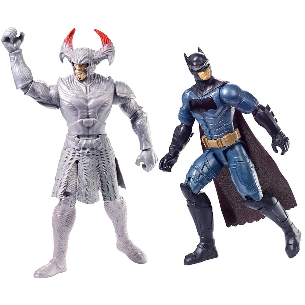 Set 2 action figures justice league batman e steppenwolf personaggi snodati.