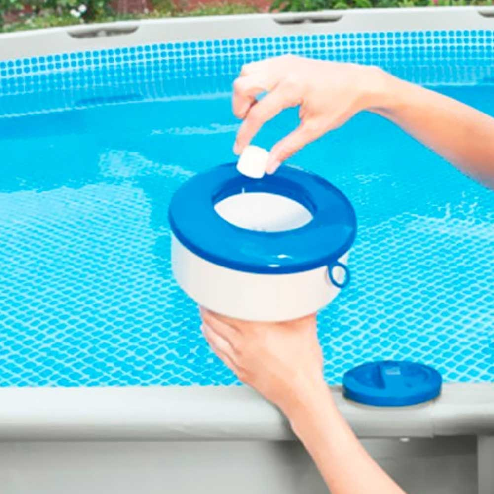 Dispenser Dosatore Galleggiante Cloro Piscina Clorinatore Regolabile Intex 17x9 .