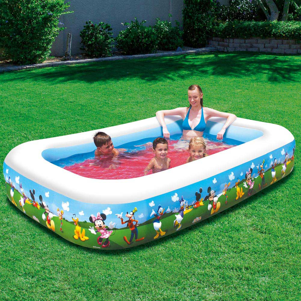Piscina Gonfiabile Family Disney Topolino Club House 260x175x51cm Bestway.