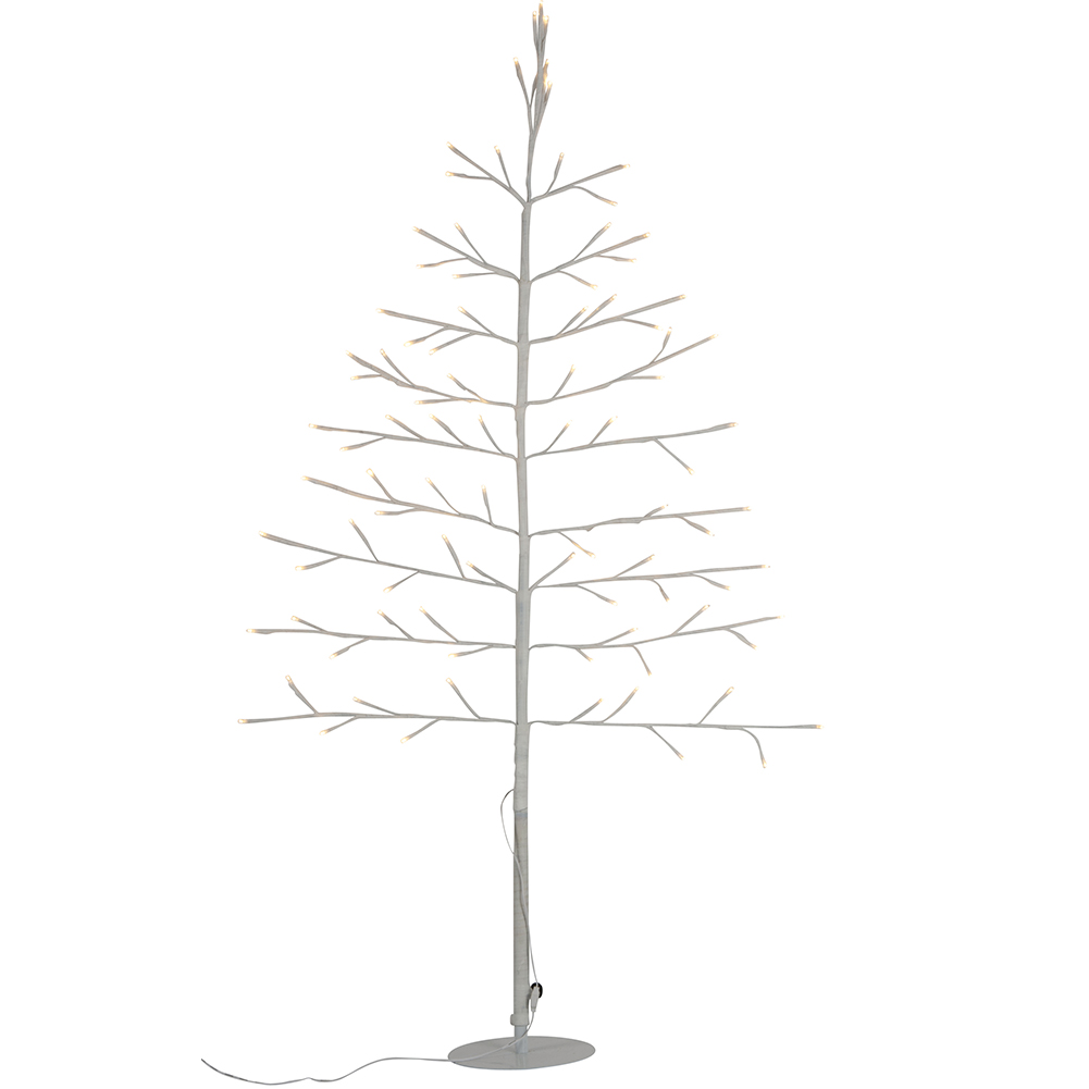 Albero decorativo luminoso 120 cm per interni 96 led ecologico decorazioni casa.