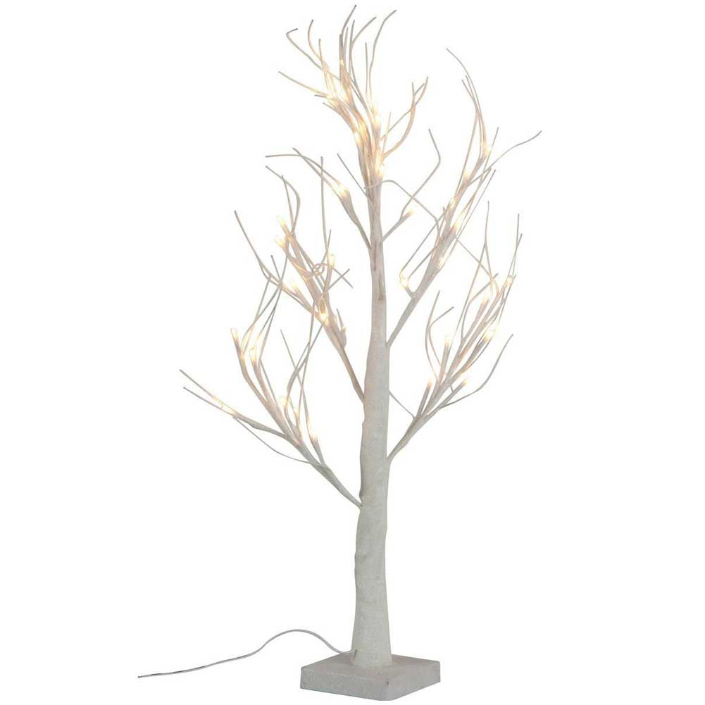 Albero decorativo luminoso 60 cm per interni 36 led ecologico decorazioni casa.