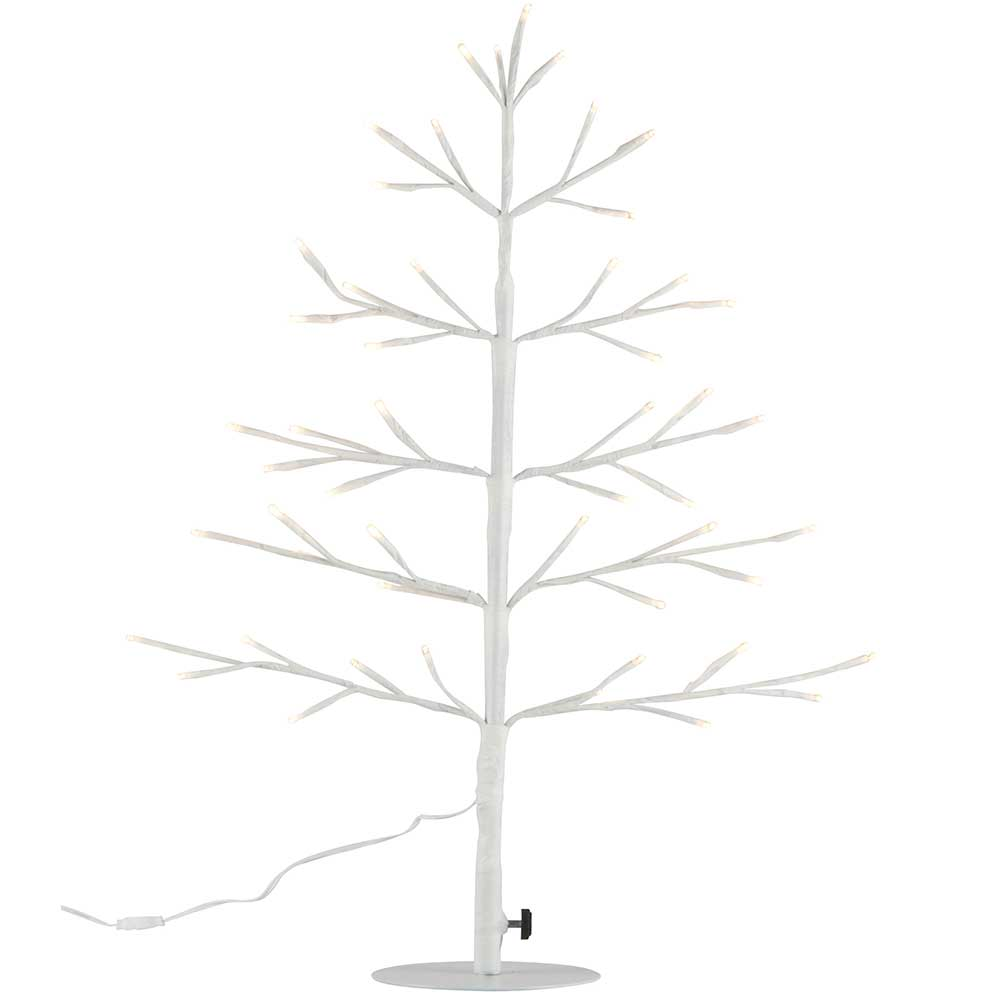 Albero decorativo luminoso 60 cm per interni 51 led ecologico decorazioni casa.