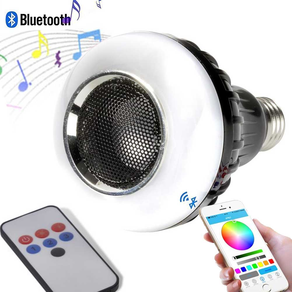 Altoparlante Bluetooth con Telecomando 3+6 LED Party Fun Light Lampadina E27 3W.
