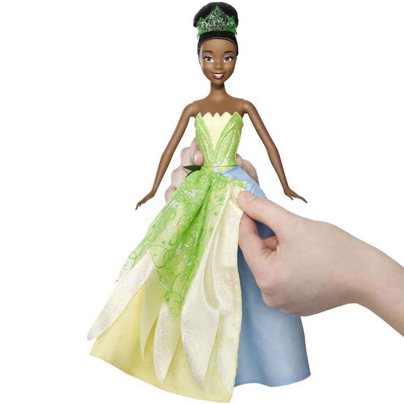 Bambola tiana 2in1 ballgown surprise personaggio disney la ...