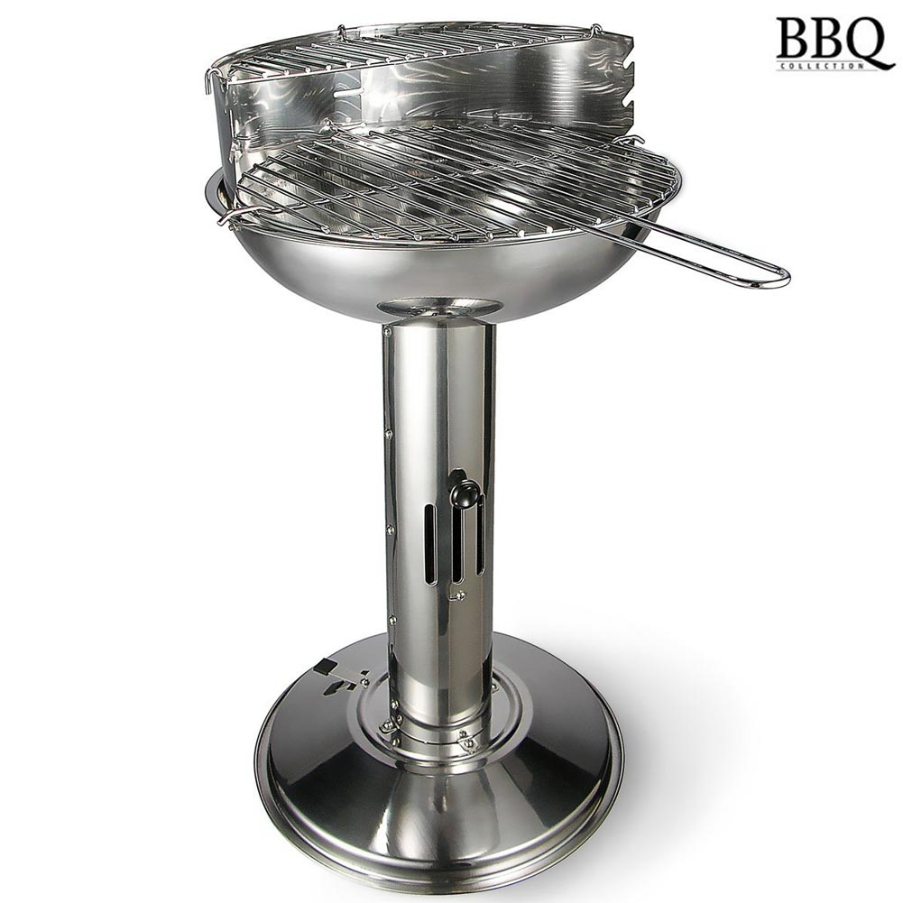 Barbecue a Colonna a Carbone Carbonella Acciaio Tondo 39x52x68cm BBQ Collection.