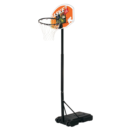 Basket piantana Junior regolamentare regolabile nero h 165-205 cm con anello.