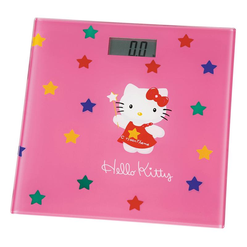 Bilancia Pesapersona Digitale Hello Kitty Forma Quadrata Colore Rosa.