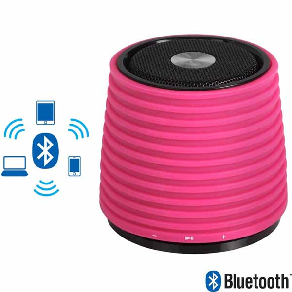 Cassa Portatile Altoparlante Bluetooth Rosa Ingresso Aux in Connettore Usb.