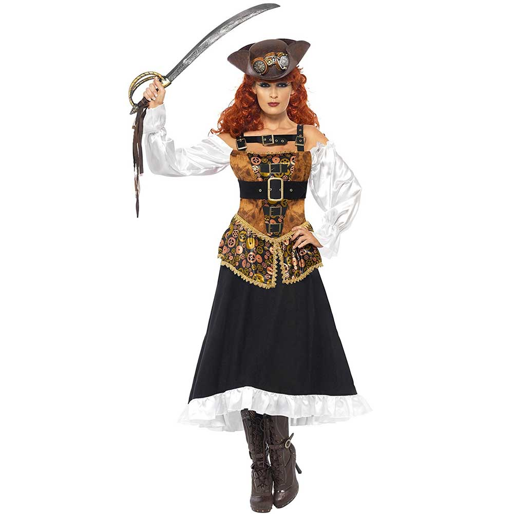 Costume Pirata Steam Punk Donna Taglia S Piratessa Party Carnevale.